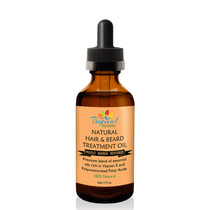 Tropical Holistic Natural Hair and Beard Treatment Oil 2oz