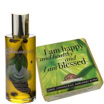 Fountain Pimento Oil 2oz and Lime Lemongrass Affirmation Soap