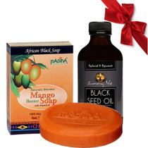 Sunny Isle BLACK SEED OIL 4Oz with Madina Mango Butter Soap