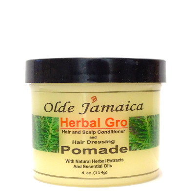 Olde Jamaica Herbal Gro Pomade With Natural Herbal Extracts and Essential Oils 4oz