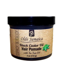 Olde Jamaica Black Castor Oil Pomade with Tea Tree Oil 4oz