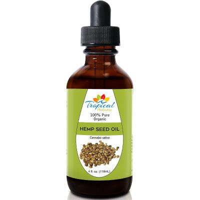 Tropical Holistic 100% Pure Organic HEMP SEED Oil 4oz