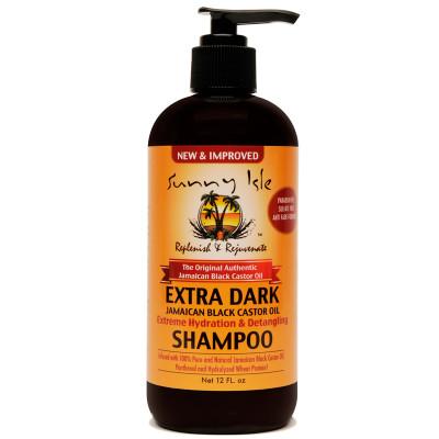 NEW & IMPROVED Sunny Isle EXTRA DARK Jamaican Black Castor Oil Moisturizing & Detangling Shampoo 12oz