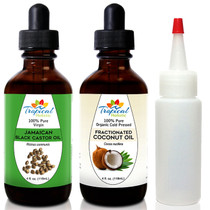 Tropical Holistic 100% Virgin Jamaican Black Castor Oil & Fractionated Coconut Oil 4oz