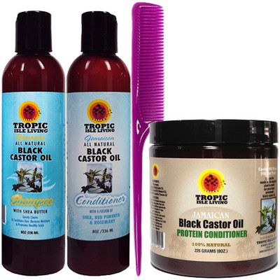 Tropic Isle Living JBCO Protein Conditioner with Shampoo and Conditioner 8oz 4-Piece