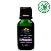 Tropical Holistic LAVENDER BULGARIAN 100% Pure Organic Essential Oil 15mL