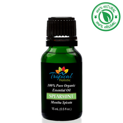 Tropical Holistic SPEARMINT 100% Pure Organic Essential Oil 15m
