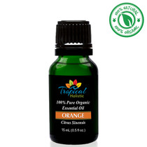 Tropical Holistic ORANGE 100% Pure Organic Essential Oil 15mL