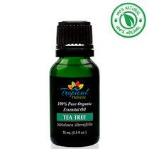Tropical Holistic TEA TREE 100% Pure Organic Essential Oil 15mL