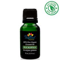 Tropical Holistic EUCALYPTUS GLOBULUS 100% Pure Organic Essential Oil 15mL