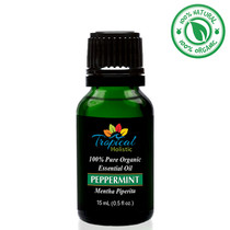 Tropical Holistic PEPPERMINT 100% Pure Organic Essential Oil 15mL
