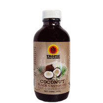 Tropic Isle Living Jamaican Coconut Black Castor Oil Hair and Skin Therapy 4oz