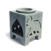 Elephant Square Gray Stone Oil Diffuser 3 inch