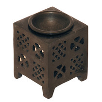 Checker Square Gray Stone Oil Diffuser 3 inch