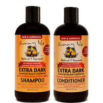 Sunny Isle EXTRA DARK JBCO Hydration and Detangling Shampoo and Conditioner 12oz