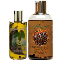 Fountain Pimento Oil 3.5oz and Fountain Jamaican Black Castor Oil Hair Food 8oz Combo