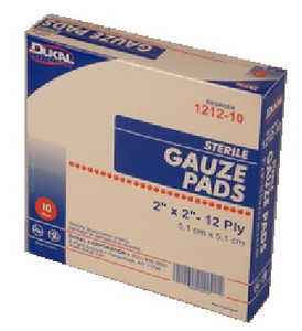 "Gauze Pads 2"" x 2"" STERILE - 10 Count Box"