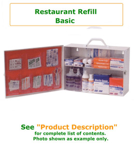 Complete variety of products to resupply a basic restaurant cabinet. Have all of the products you need to be prepared for your restaurant Workforce
