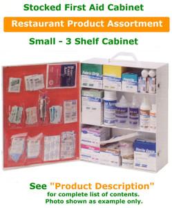 3 Shelf Cabinet Stocked for Restaurant environment