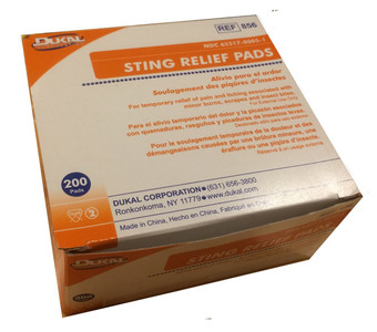 Sting Relief Pads - 200/Box