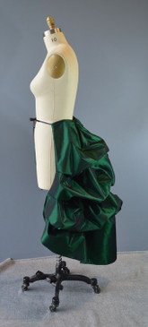 Long Bustle iridescent taffeta