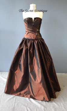 Steampunk Buckle Bustle Gown