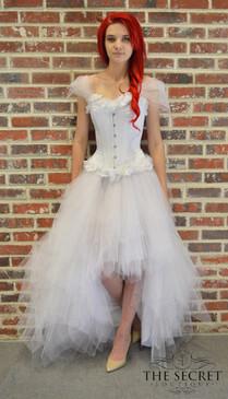 White Flowers tulle dress
