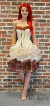 Steampunk Flowers Corset Dress