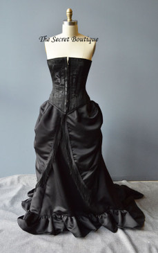 "Gothic mourning bustle Gown ""Jolie"""