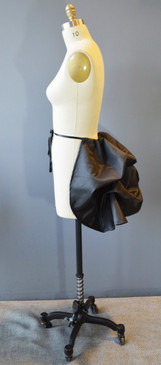 Mini Bustle Black Satin Taffeta