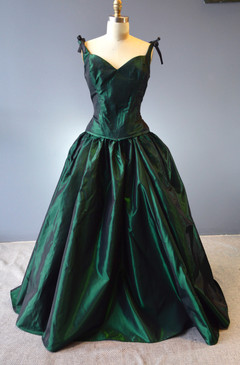 Bustle Gown Green