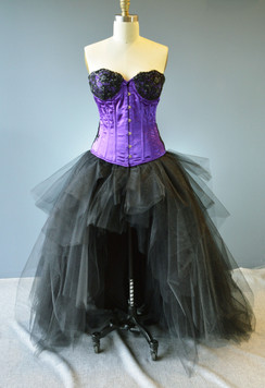 black high low Tulle Skirt Plus Size