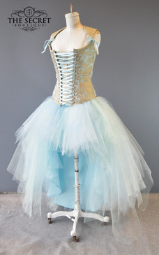 Tulle skirt light blue plus size