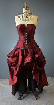 "Steampunk buckle dress-""Crimson"""