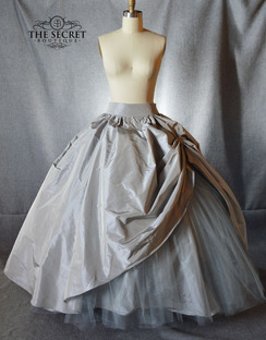 Silk taffeta bridal skirt