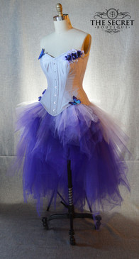 purple ombre high low tulle skirt
