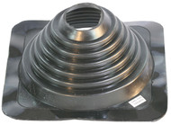 """[MasterFlash®]~[Fits Pipe Sizes 2¾"""" to 7"""" (70MM to 117.8MM) Base Dimensions: 10"""" x 10"""" (254MMx254MM)]~[An impressive 35 year warranty offered by manufacturer. A simple solution to flashing a pipe penetration through a metal roof.  Cut lines clearly marked to allow for easy installation for multiple pipe sizes. An aluminum base panel allows the pipe boot flashing to conform to any panel configuration and most roof pitches. Installed in just 5 minutes, field tested and proven product design. EPDM compound will not shrink or expand when exposed to the elements, keeping that tight seal for decades.]"""