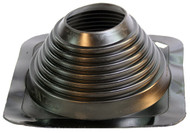 """[MasterFlash®]~[Fits Pipe Sizes  4 ¾"""" to 10"""" ([m]MM to [m]MM) Base Dimensions: 12"""" X 12"""" (304.8MM X 304.8MM)]~[An impressive 35 year warranty offered by manufacturer. A simple solution to flashing a pipe penetration through a metal roof.  Cut lines clearly marked to allow for easy installation for multiple pipe sizes. An aluminum base panel allows the pipe boot flashing to conform to any panel configuration and most roof pitches. Installed in just 5 minutes, field tested and proven product design. EPDM compound will not shrink or expand when exposed to the elements, keeping that tight seal for decades.]"""