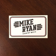 "4.5"" x 2.5"" Mike Ryan Vinyl Sticker."