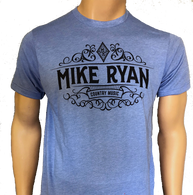 Mike Ryan Country Music Tee - Heather Athletic Blue