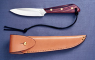 Army Jump Knife configuration, classic rosewood handle, high carbon stainless steel straight blade, overlap/army sheath #R3SA  Sugg Retail $97.50