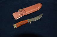 Classic Rosewood handle, high carbon stainless steel blade, regular sheath #R105S Sugg Retail $173.50