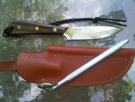 Knife, Sheath and Steel included