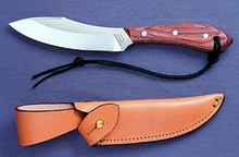 Survival Knife with classic rosewood handle, high carbon stainless steel blade, regular sheath #R4S Sugg Retail $130.00