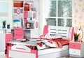 Pink king single bed frame