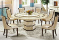 E Cheap cream marble dining table and chair