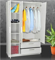 cheap white 3 doors wardrobe
