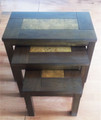3 pieces wooden coffee table set
