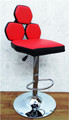 red black bar stool