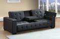 PU leather 3 seat sofa bed